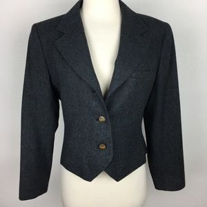 Pendleton Gray Wool 3 Button Blazer Medium